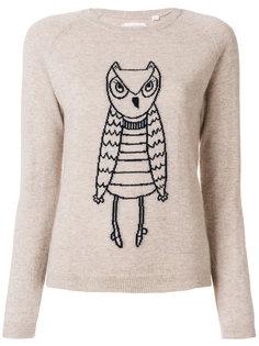 кашемировый свитер с изображением совы  Chinti And Parker