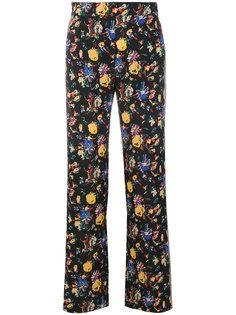 брюки с завышенной талией и принтом  Etro