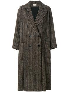 двубортное пальто свободного кроя Masscob