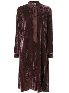 бархатное платье-рубашка Hache