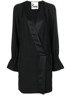 платье с V-образным вырезом и сборками 8pm