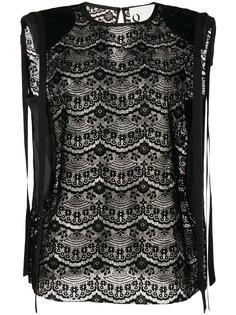 полупрозрачная кружевная блузка  8pm