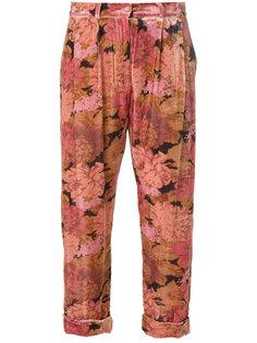 укороченные брюки с цветочным принтом Mes Demoiselles