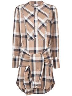 платье-рубашка с завязкой Derek Lam 10 Crosby