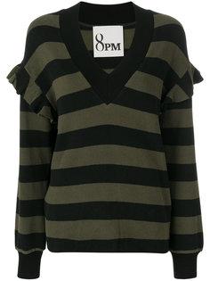 расклешенный пуловер с V-образным вырезом  8pm
