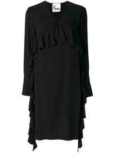 платье с V-образным вырезом и оборками 8pm