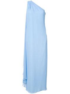 вечернее платье на одно плечо Badgley Mischka