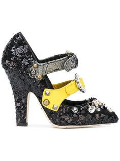 туфли с пайетками Dolce & Gabbana