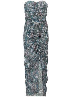 платье с узором пейсли и сборками Veronica Beard