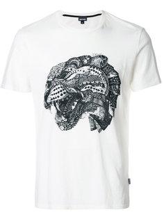 футболка с принтом змеи Just Cavalli