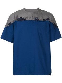 футболка с панельным дизайном Sacai