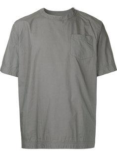 футболка со встречной складкой Sacai