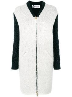 пальто с контрастными рукавами  Lanvin