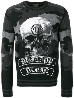 камуфляжный пуловер с принтом Philipp Plein