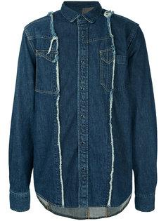 джинсовая рубашка с панельным дизайном Sacai