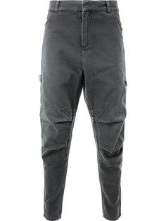 байкерские джинсы свободного кроя Balmain