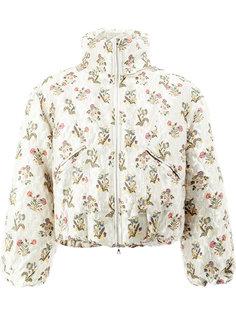 укороченная куртка с цветочным принтом Edward Crutchley