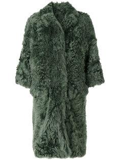длинное пальто из овчины Desa 1972