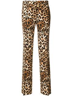 брюки с леопардовым принтом  Alberto Biani