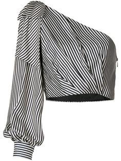 полосатая блузка на одно плечо Zimmermann