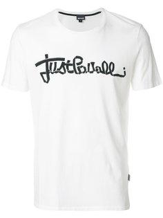 футболка с принтом-логотипом Just Cavalli