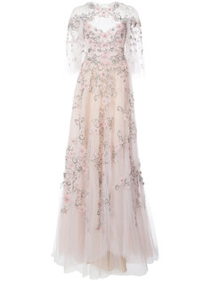 bead embroidery voile gown Marchesa