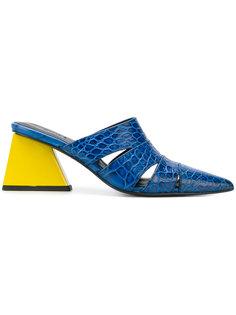 мюли на контрастном каблуке Marquesalmeida