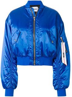 укороченная куртка бомбер MSGM