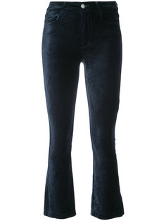 velvety cropped trousers Paige