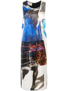 платье с асимметричным узором Marni