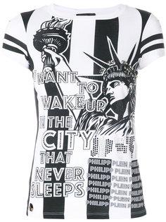 футболка с заклепками  Philipp Plein