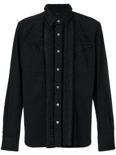 джинсовая рубашка с вышивкой Sacai