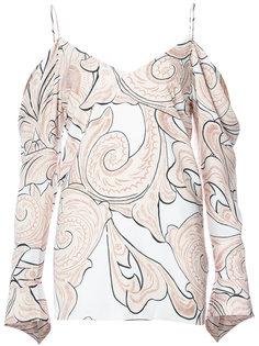 paisley print V-neck blouse C/Meo