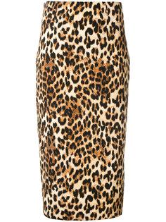 юбка с леопардовым принтом  Alberto Biani