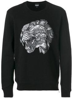 leopard head print sweatshirt  Just Cavalli