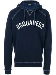 толстовка с капюшоном и логотипом Dsquared2