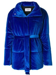 фактурная дутая куртка  MSGM