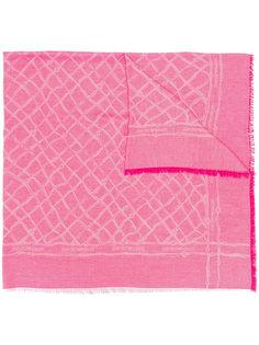 шарф с сетчатым принтом Emporio Armani