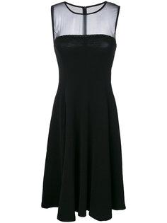 классическое платье миди  Emporio Armani