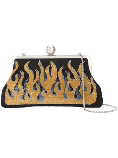 flame embroidered clutch  Sarah's Bag
