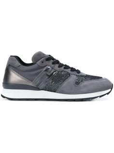 текстурированные кроссовки Hogan