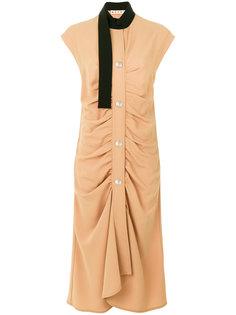 платье со сборками и платком Marni