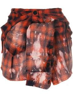 клетчатая мини-юбка в рубашечном стиле Faith Connexion