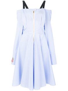 платье в полоску с аппликацией  Natasha Zinko