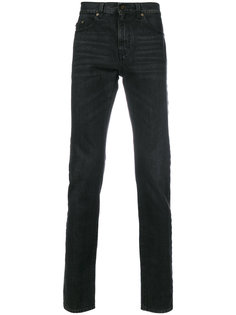 джинсы с приспущенной талией Saint Laurent