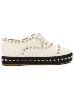туфли на платформе с заклепками Charlotte Olympia