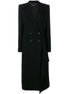 кашемировое двубортное пальто  Alexander McQueen