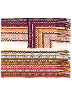 трикотажный шарф с узором шеврон M Missoni