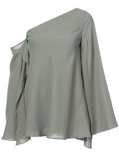 asymmetric cold shoulder blouse C/Meo