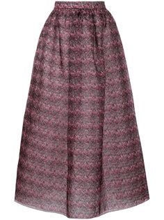 юбка с цветочным принтом Huishan Zhang